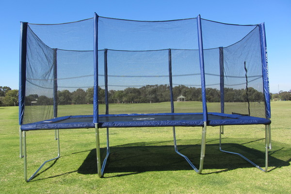10x15ft Rectangle Trampoline With Enclosure Gymnastic