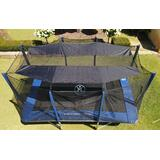 10FT Round Trampoline Smart Shade 8 Poles