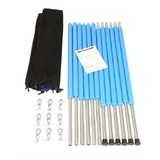 8FT Round Trampoline Enclosure Kit - 6 Poles