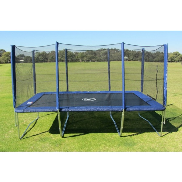10x17ft rectangle trampoline with enclosure gymnastic trampolines jump star trampolines. Black Bedroom Furniture Sets. Home Design Ideas