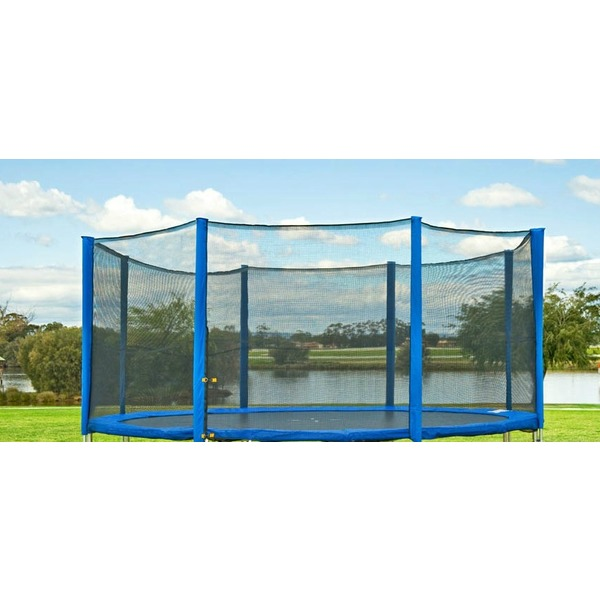 13ft round trampoline replacement net for 6 poles jump star trampolines. Black Bedroom Furniture Sets. Home Design Ideas